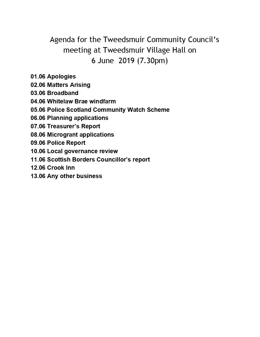 Tweedsmuir Community Council