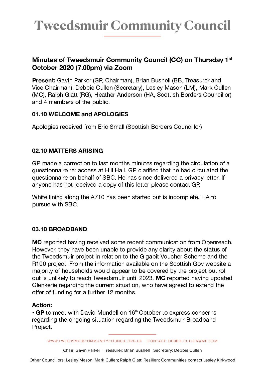 Tweedsmuir Community Council