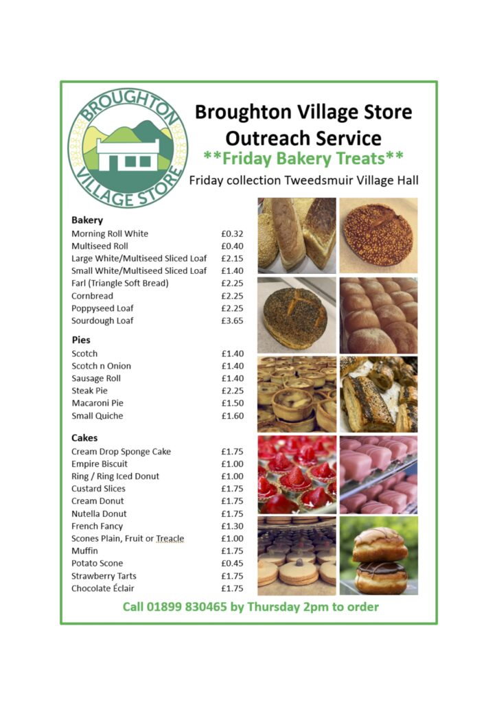 Broughton store shopping list
